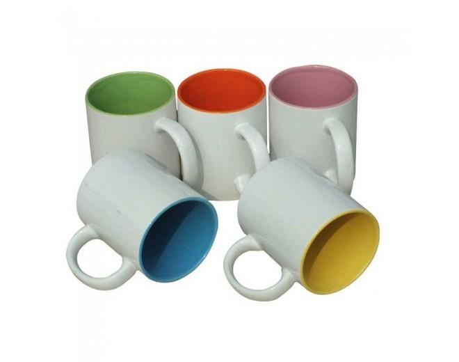 Taza de cerámica con Color en el Interior